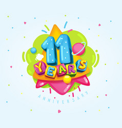 11 years vector image