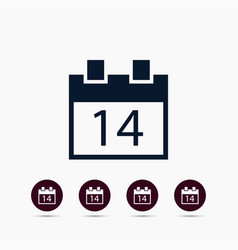 14 on calendar icon simple love valentine sign vector image