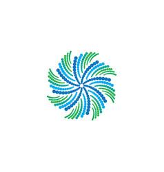 Abstract circle swirl ornament logo vector