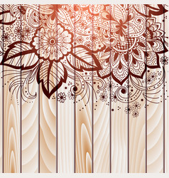 Abstract floral elements in indian vector