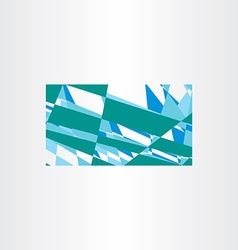 Abstract green blue business card background vector