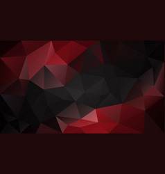 abstract irregular polygonal background black red vector image