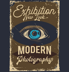 advertising of exhibition with an eye vector image
