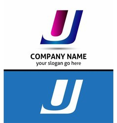 Alphabetical Logo Design Concepts Letter U vector