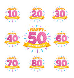 anniversary emblems creative layout for vector image