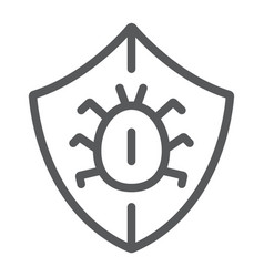 Antivirus line icon security and protection vector