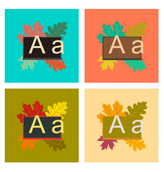 assembly flat icons education blackboard leaves vector image