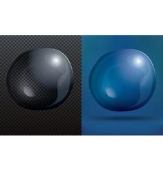 bubble on transparent grid vector image