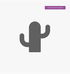 Cactus icon simple vector