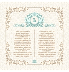 Calligraphic border frame design template for vector