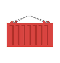 Cargo container red isolated iso-container metal vector