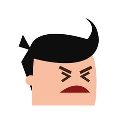 Cartoon man head icon image vector