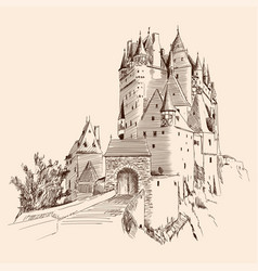 castle and landscape vector image