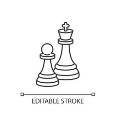Chess pixel perfect linear icon vector