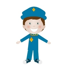 child dressed as police officer icon image vector image