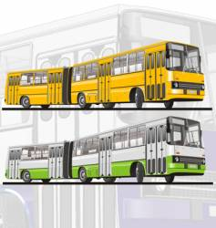 City bus articulated vector