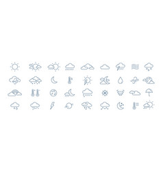 collection meteorological icons or symbols vector image
