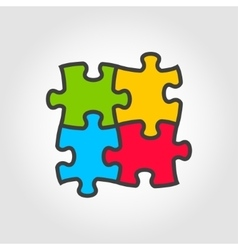 color puzzles icon vector image