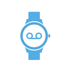 concept record smart technology smartwatch vector image