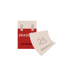 deadline and time management concept with tear-off vector image