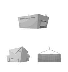 design of goods and cargo icon set of vector image