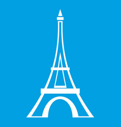 Eiffel tower icon white vector