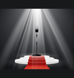 entertainment industry microphone stand on stage vector image