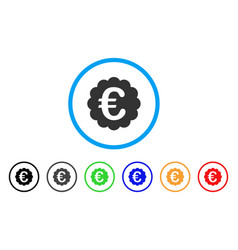 euro quality seal rounded icon vector image
