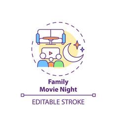 family movie night concept icon vector image