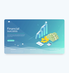 financial research concept vector image