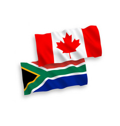 Flags canada and republic south africa on a vector