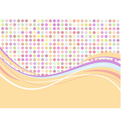 Flat abstract background vector