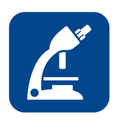 Flat design icon of optical microscope vector