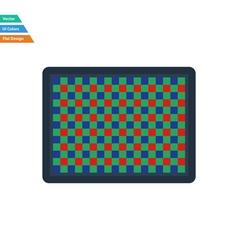 Flat design icon of photo camera sensorFlat design vector