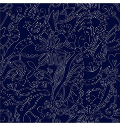 Floral seamless pattern linework ethnic vector