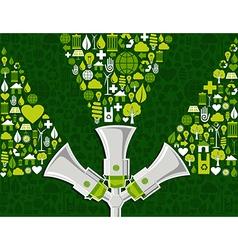 Go green social media background vector