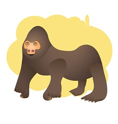 gorilla preview vector image