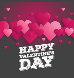 greeting card happy valentines day lettering with vector image