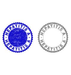 Grunge hepatitis a scratched watermarks vector