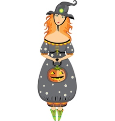 halloween girl costume vector image