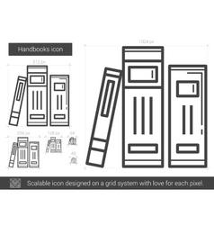 Handbooks line icon vector image