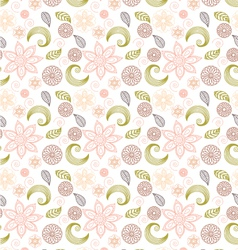 Handdrawn seamless floral pattern vector image