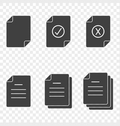 icons of documents - simple approved rejected vector image