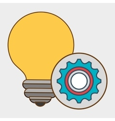 idea gear wheel icon vector image