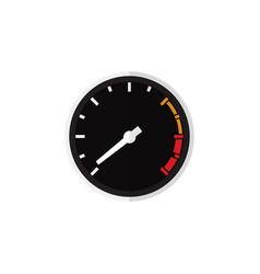 isolated speedometer flat icon tachometr vector image