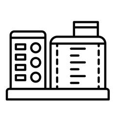 kitchen food processor icon outline style vector image