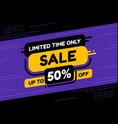 label template mega sale limited time only flat vector image