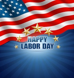 Labor day in american background vector