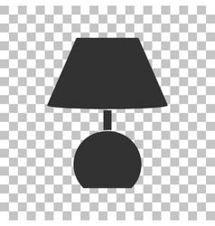 Lamp sign Dark gray icon on vector image