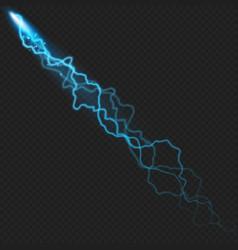 Lightning flash bolt or thunderbolt effect object vector